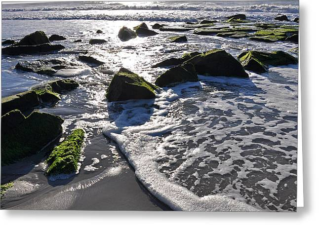Surf City Greeting Cards - Waves are coming in Greeting Card by Joanie Drake