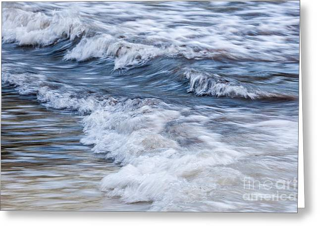 Abstract Waves Greeting Cards - Waves at shore Greeting Card by Elena Elisseeva