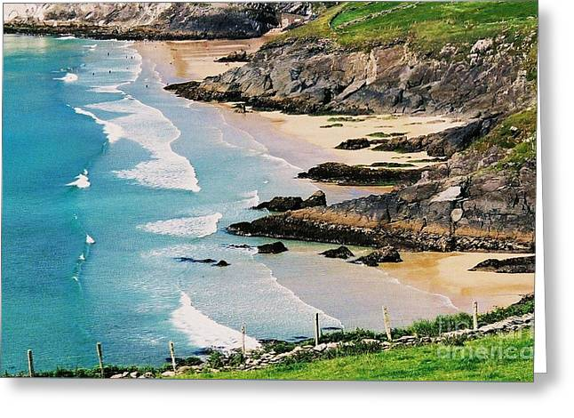 Landscape Framed Prints Greeting Cards - Waves at Sybil Point Ireland 1 Greeting Card by Marcus Dagan