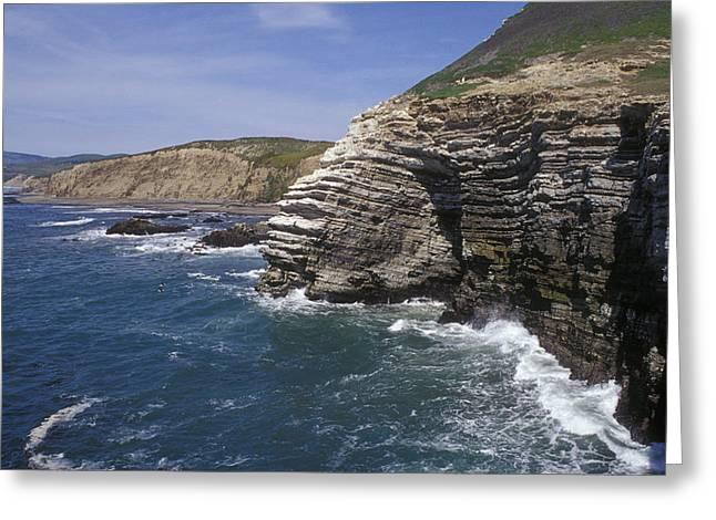 Gaviota Greeting Cards - Waves Breaking On The Coastal Bluffs Greeting Card by Rich Reid