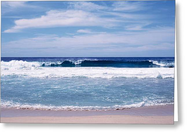 Big Sur Greeting Cards - Waves Crashing On The Beach, Big Sur Greeting Card by Panoramic Images