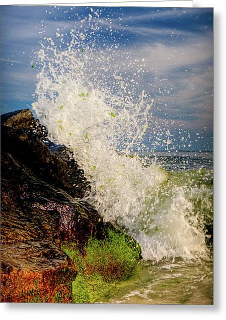 Waves Greeting Card by David Hahn