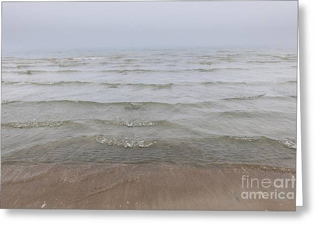 Foggy Ocean Photographs Greeting Cards - Waves in fog Greeting Card by Elena Elisseeva