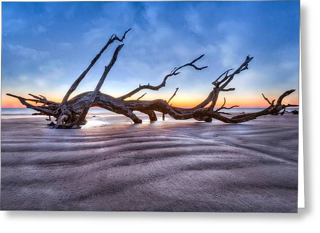 Nature Scene Greeting Cards - Waves in the Sand Greeting Card by Debra and Dave Vanderlaan