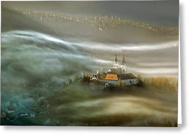 Aerials Greeting Cards - Waves Greeting Card by Matjaz Cater