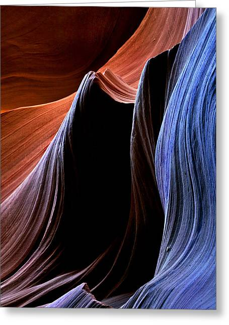Red Sandstone Greeting Cards - Waves Greeting Card by Mike  Dawson