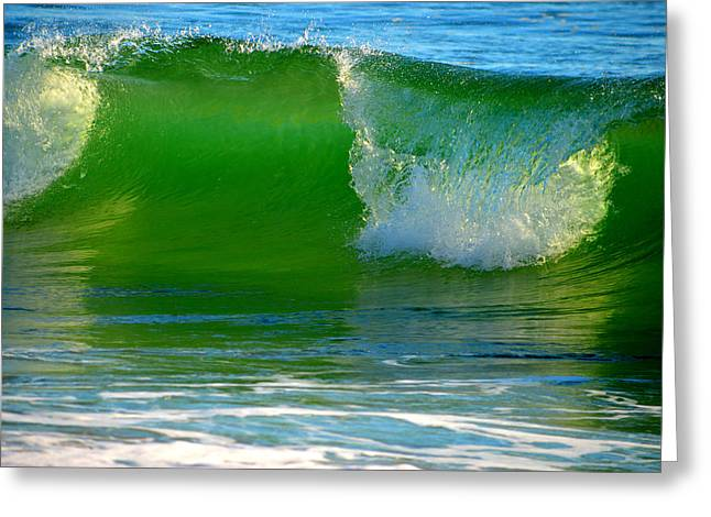 Caring Mother Greeting Cards - Waves of Emerald Greeting Card by Dianne Cowen