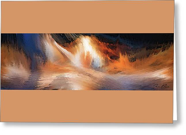 Waves Of Light Greeting Card by Jennifer Page