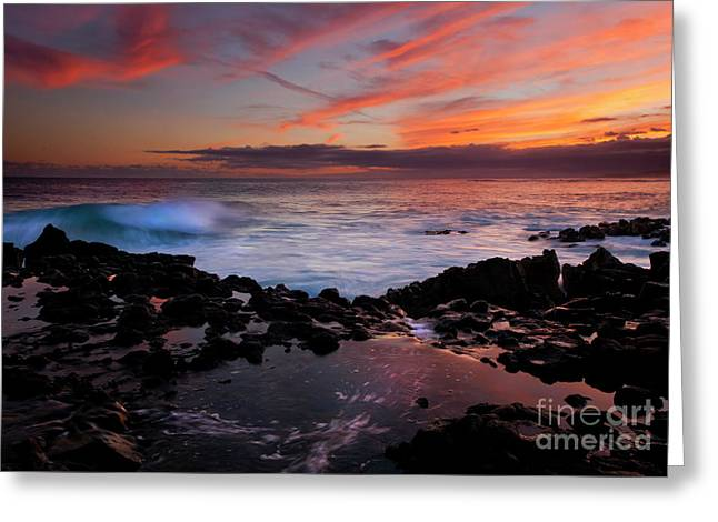 Waves Of Paradise Greeting Card by Mike  Dawson
