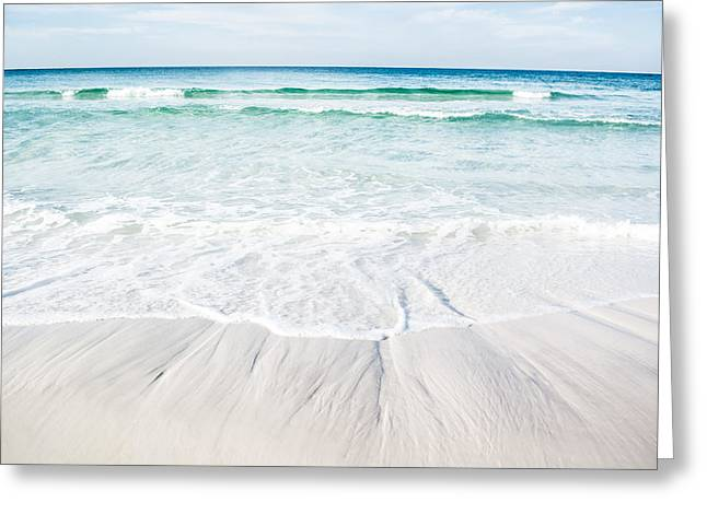 Alabaster Greeting Cards - Waves of Paradise Greeting Card by Shelby  Young