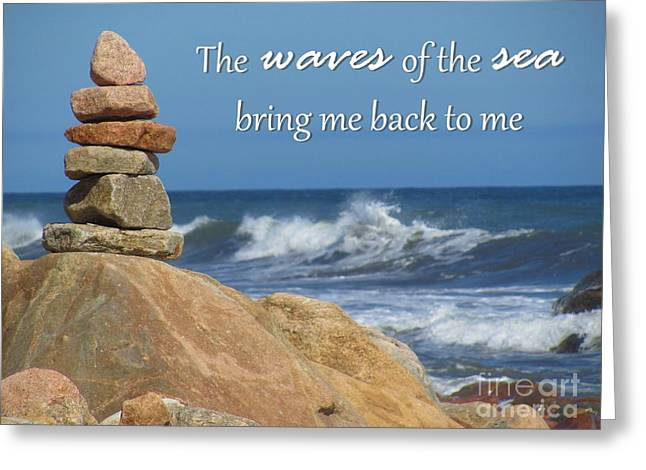 New England Ocean Greeting Cards - Waves of the Sea Greeting Card by Tammie Miller