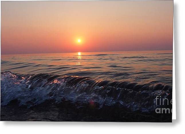 Indiana Dunes Greeting Cards - Waves Greeting Card by Sarah  Mitcheltree