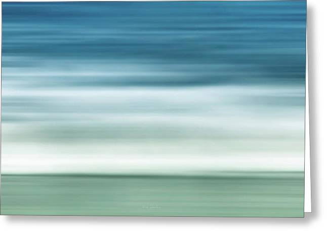 Signed Photographs Greeting Cards - Waves Greeting Card by Wim Lanclus