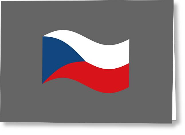 Czech Flag Greeting Cards - Waving Czech Republic Flag Greeting Card by Frederick Holiday