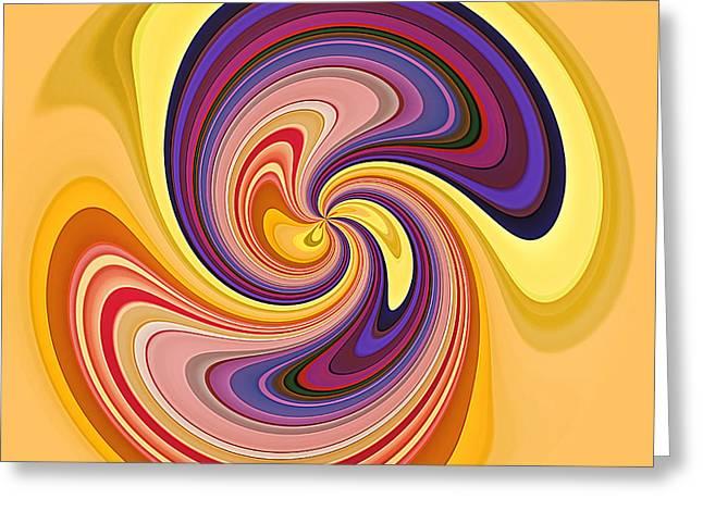 Geometrical Art Greeting Cards - Wavy Stripes Figure 1 Greeting Card by Gabriele Pomykaj