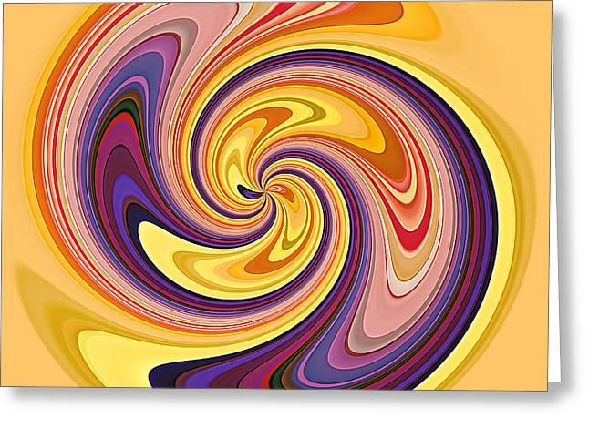 Geometrical Art Greeting Cards - Wavy Stripes Figure 3 Greeting Card by Gabriele Pomykaj