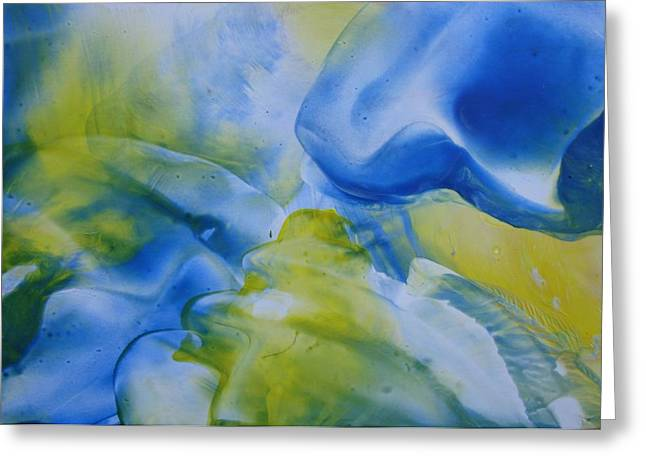 Encaustic Greeting Cards - Wax Art Abstract 1 Greeting Card by Liz Vernand