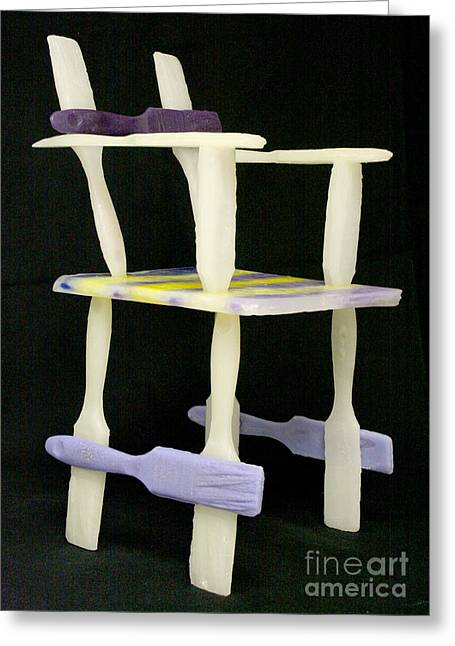 Chairs Sculptures Greeting Cards - Wax Chair Greeting Card by Karen  Peterson