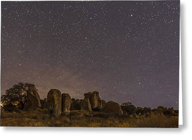 Christmas Eve Greeting Cards - Waxing Moon Above The City Of Rocks Greeting Card by Alan Dyer