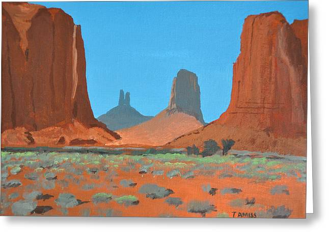 Recently Sold -  - Monolith Greeting Cards - Way Of The Towers Greeting Card by Tom Amiss