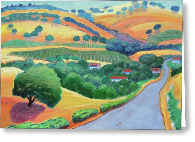 Rolling Hills Vinyards Greeting Cards - Way to Bear Greeting Card by Gary Coleman