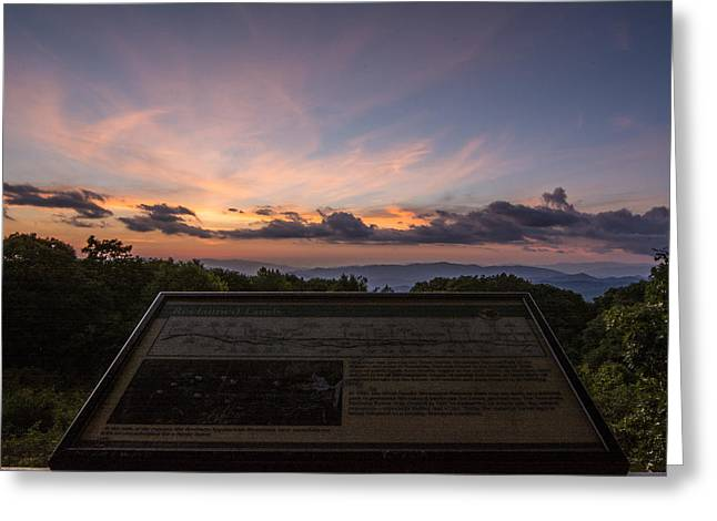 Franklin Tennessee Greeting Cards - Wayah Bald Sunset Greeting Card by Hunter Ward