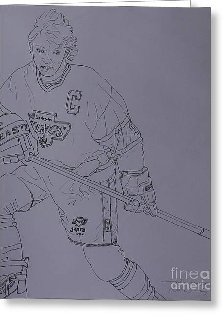 Wayne Gretzky Greeting Cards - Wayne Greeting Card by Amanda Li