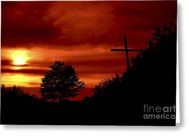 Wayside Cross Greeting Cards - Wayside Cross Greeting Card by Michal Boubin