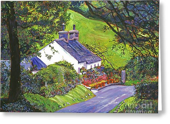 English Cottages Greeting Cards - Wayside House Greeting Card by David Lloyd Glover