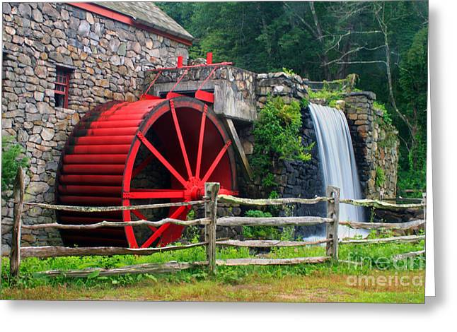 Wayside Inn Grist Mill Greeting Card by Jim Beckwith
