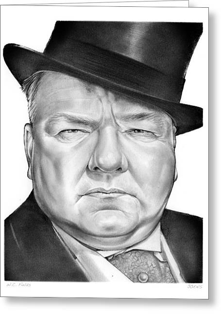 Wc Fields Greeting Card by Greg Joens