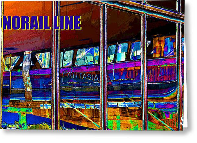 Monorail Greeting Cards - WDW Monorail Line  Greeting Card by David Lee Thompson