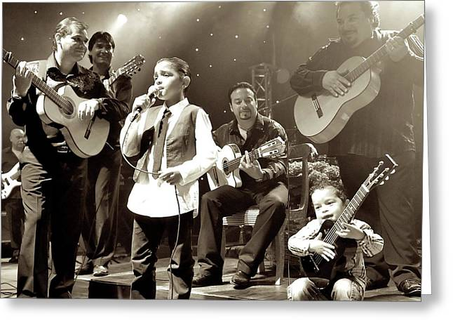 Gypsy Band Greeting Cards - We Are A Family Greeting Card by Bobby Bouchikhi