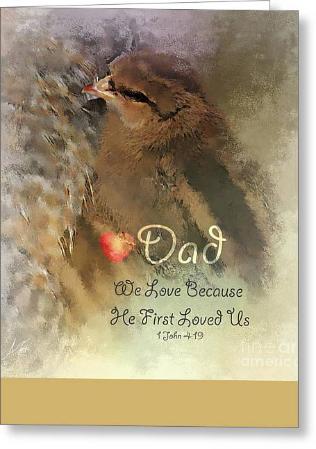 """""""we Are Family"""" Greeting Cards - We Are Family - Dad Greeting Card by Anita Faye"""