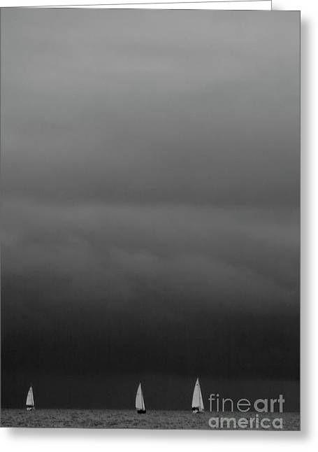 We Are Sailing On Baltic Sea Greeting Card by Heiko Koehrer-Wagner