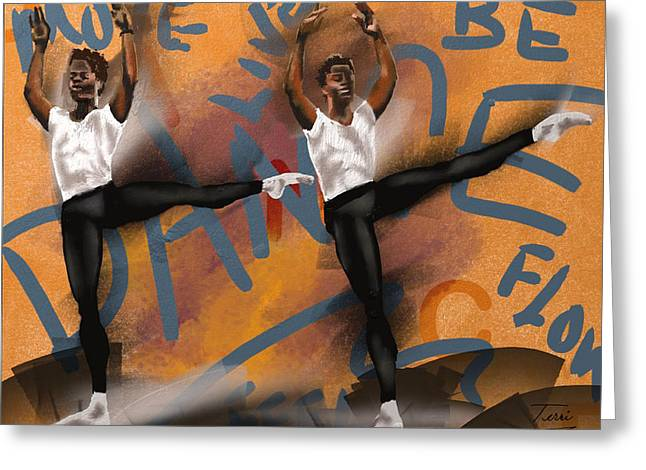 Ballet Dancers Greeting Cards - We Dance 2 Greeting Card by Terri Meredith
