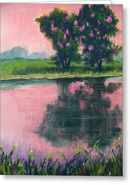Dusk Pastels Greeting Cards - We Enter Night Together Greeting Card by Christine Camp