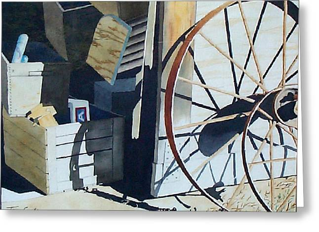 Whee Greeting Cards - We left the Barn Door Open Greeting Card by Jim Gerkin