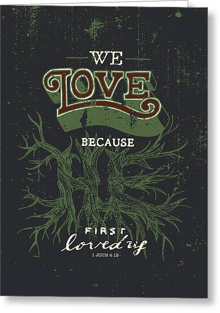 Love Letter Drawings Greeting Cards - We Love Greeting Card by Jessica Zint