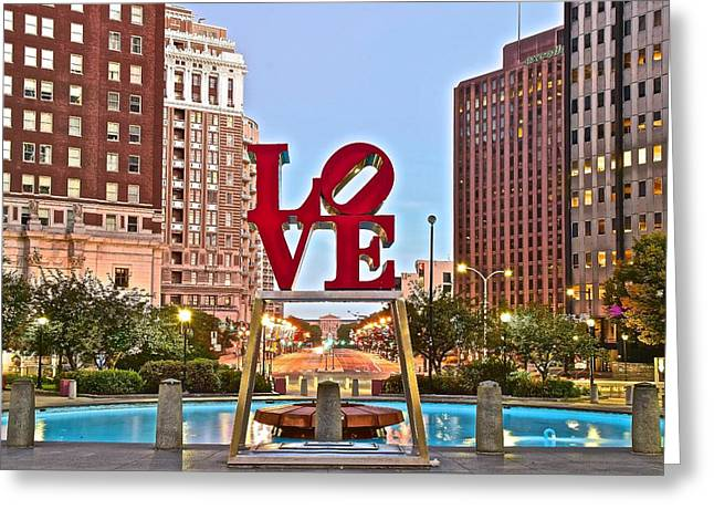 We Love Philadelphia Greeting Card by Skyline Photos of America