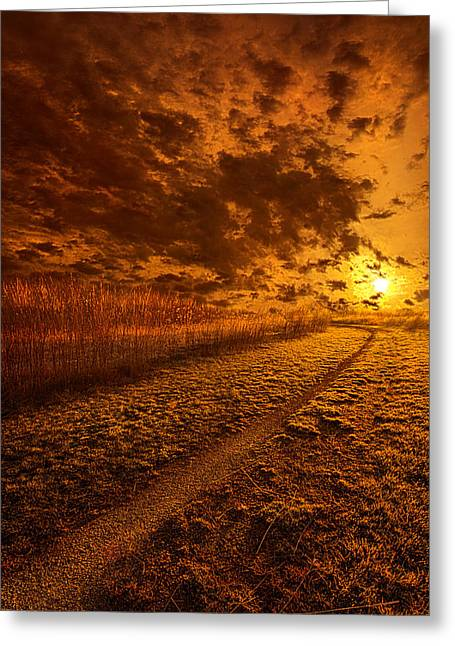 We Ourselves Must Walk The Path Greeting Card by Phil Koch