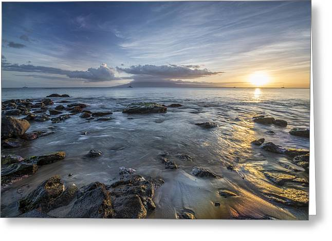 Sunset Photography Prints Greeting Cards - We Say GoodBye Greeting Card by Jon Glaser