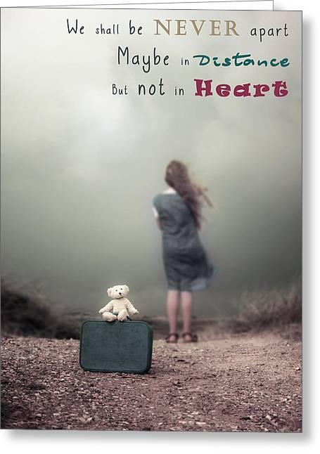 Bear Tracks Greeting Cards - We Shall Be Never Apart Greeting Card by Joana Kruse