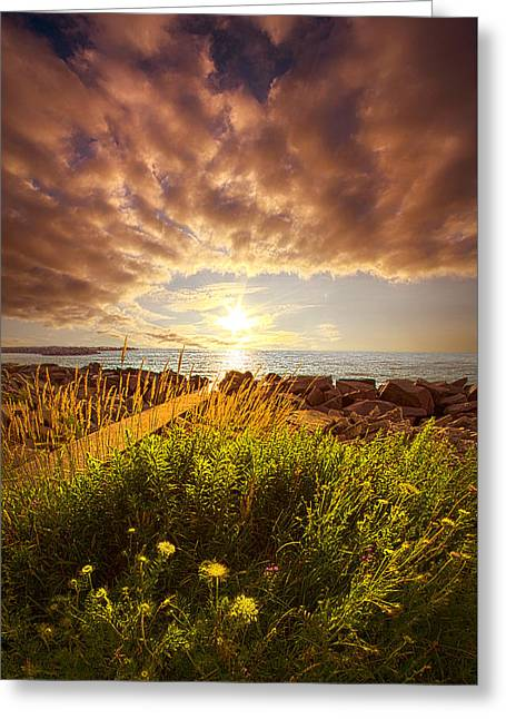 Country Living Greeting Cards - We Sleep in Our Dreams Greeting Card by Phil Koch