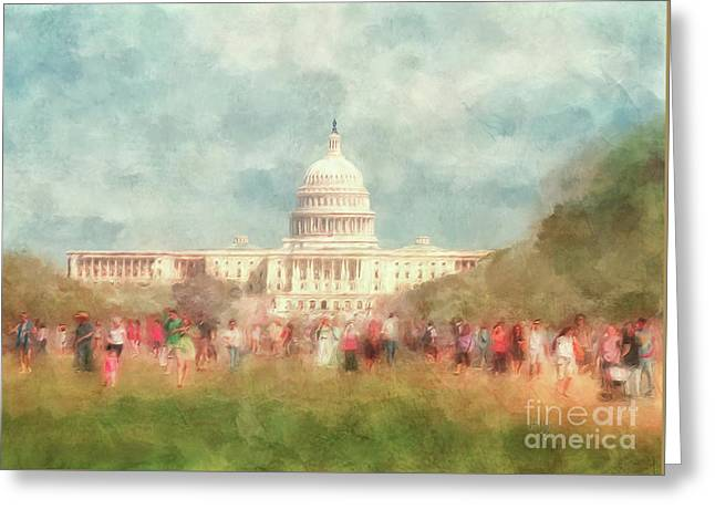 We The People Greeting Card by Lois Bryan