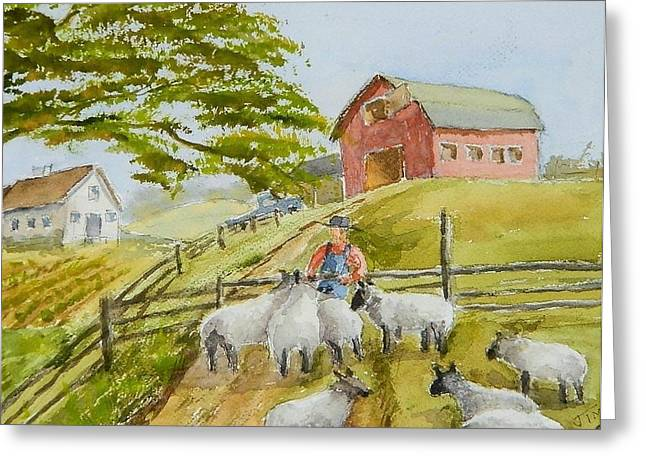 Maine Farms Greeting Cards - We Want To Go HOME Greeting Card by Jim Decker