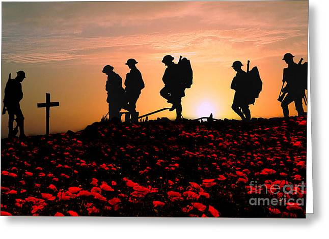 We Will Remember Them Greeting Card by Stephen Smith