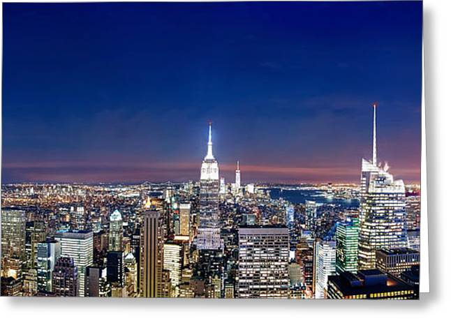 New York City Greeting Cards - Wealth And Power Greeting Card by Az Jackson