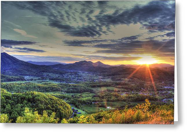 Wears Valley Tennessee Sunset Greeting Card by Reid Callaway