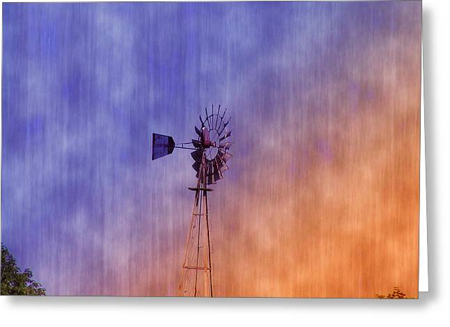 Weather Vane Sunset Greeting Card by Bill Cannon